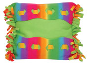 Creativity Center - Project Sheets - Fleece Projects - Rainbow Laced Pillow