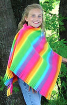 Creativity Center - Project Sheets - Fleece Projects - Rainbow Fringe Cut™ Poncho