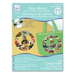 Photo Mosaic Peace Sign Transfers (2 sheets/pack and cd)