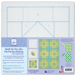 Quilt as You Go  Pre-Printed Batting with Fusible Back Fair and Square Block Pattern