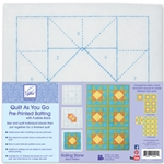 Quilt as You Go  Pre-Printed Batting with Fusible Back Rolling Stone Block Pattern