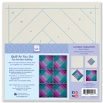 Quilt As You Go Pre-Printed Batting  London Labyrinth Quilt Block Pattern