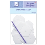 Simple Shapes - Hexagon Quilting Template