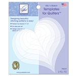 Mix 'n Match Quilting Templates - Heart