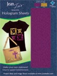 Iron-On Hologram Sheets (1 each - Purple/Gold)