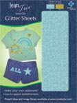 Iron-On Glitter Embellishment Sheets (1 each - Gold/Teal)