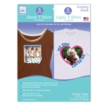 Variety Pack; Dark and Light T-Shirt Transfers (10 sheets/pack)