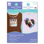 Variety Pack; Dark and Light T-Shirt Transfers  Iron-On Transfer Sheets for Inkject Printers