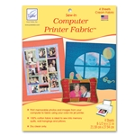 June Tailor Computer Printer Fabric - Cream (4 sheets/pack) Sew-In Fabric Sheets for Inkjet Printers.