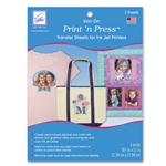 Print 'n Press Iron-On Transfer Sheets For Inkjet Printers