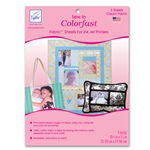 June Tailor Colorfast - Cream (3 sheets/pack) Sew-In Fabric Sheets for Inkjet Printers.