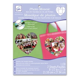Photo Mosaic Heart Transfers (2 sheets/pack and cd)