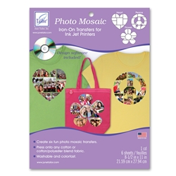 Photo Mosaic Assortment Transfers (6 sheets/pack and cd)