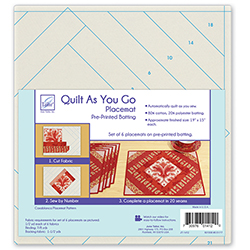 Quilt As You Go Placemat, Pre-Printed Batting - Casablanca Pattern