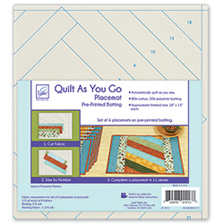 Quilt As You Go Placemat, Pre-Printed Batting - Jakarta Pattern