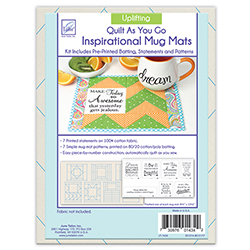 Quilt As You Go Inspirational Mug Mats - Uplifting