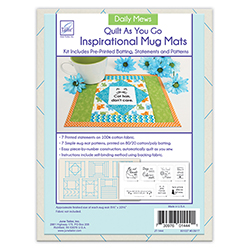 Quilt As You Go Inspirational Mug Mats - Daily Mews