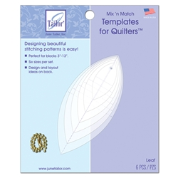 Mix 'n Match Quilting Templates - Leaf