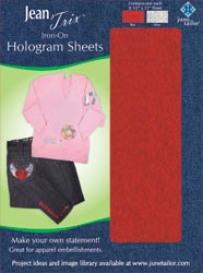 Iron-On Hologram Sheets (1 each - Red/Silver)