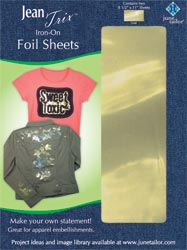 June Tailor Iron-On Foil Embellishment Sheets (2 sheets Gold)