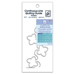 June Tailor Continuous Line Quilting Guide - Flowers - SMALL