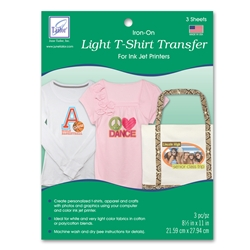 Light T-Shirt Transfer (3 sheets/pack)
