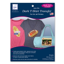 Dark T-Shirt Transfer Value Pack (10 sheets/pack)