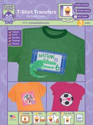 June Tailor T-Shirt Transfers for Dark Colors - Purple Chimp™ - For dark or bright color cotton or cotton polyester blend fabrics.