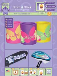 June Tailor Print & Stick Decorating Sheets - Purple Chimp™ - For almost any surface in any color.