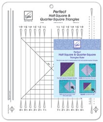 June Tailor Half-Square & Quarter-Square Triangles Quilting Ruler